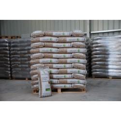 granulés de bois ( 1 tonne par palette)